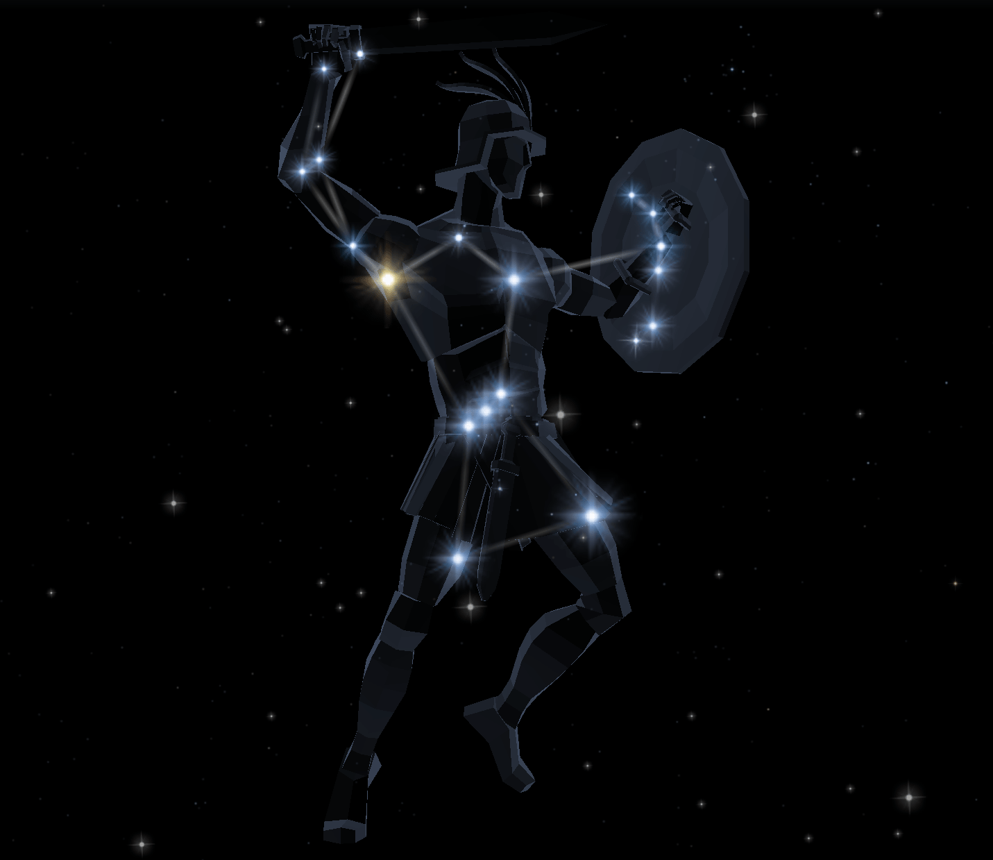 The various legends about the orion constellation