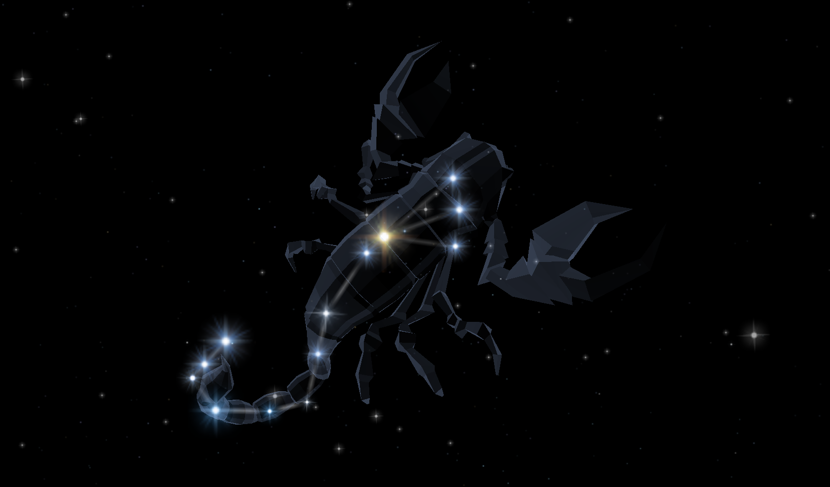 Scorpius - The Stars and Planets